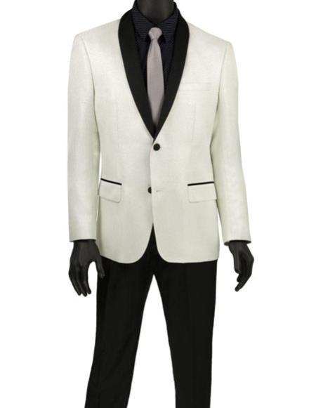 Mens White Fashion Blazer ~ Sport Coat ~ Tuxedo Dinner Jacket