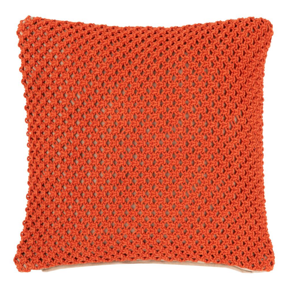 Kissenbezug aus Baumwoll, orange mit Motiven 40x40
