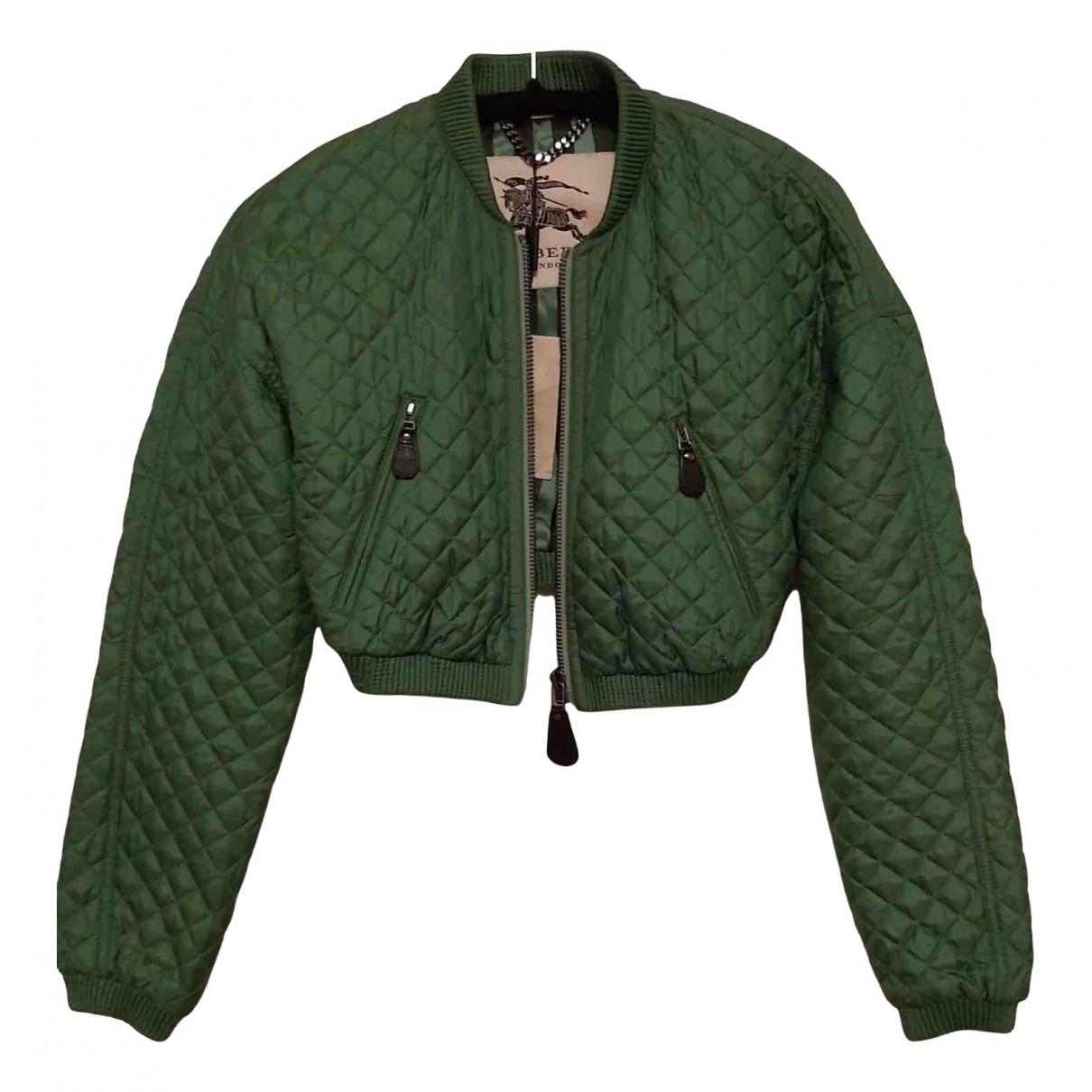 Burberry - Veste   pour femme en soie - vert