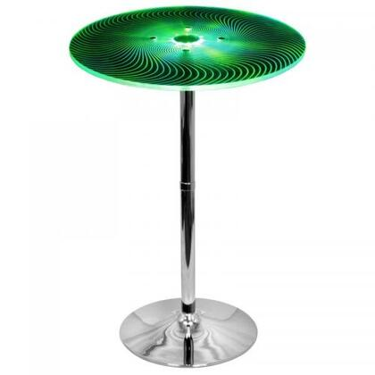 BT-SPYRA Spyra Light Up and Height Adjustable Bar Contemporary Table in