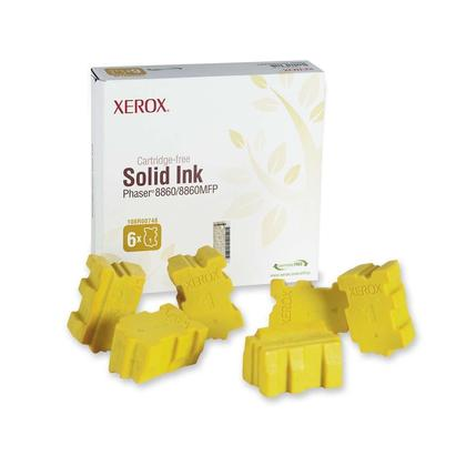 Xerox 108R00748 bâtons d'encre solide original jaune - 6 bâtons/paquet