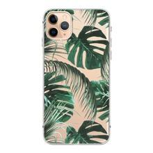 1pc Tropical Leaf Print iPhone Case
