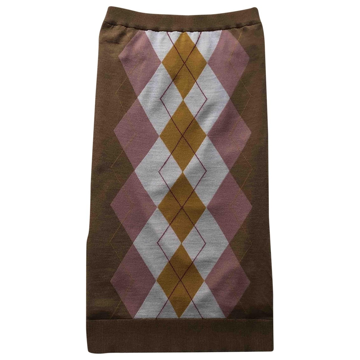 Burberry - Jupe   pour femme en laine - beige