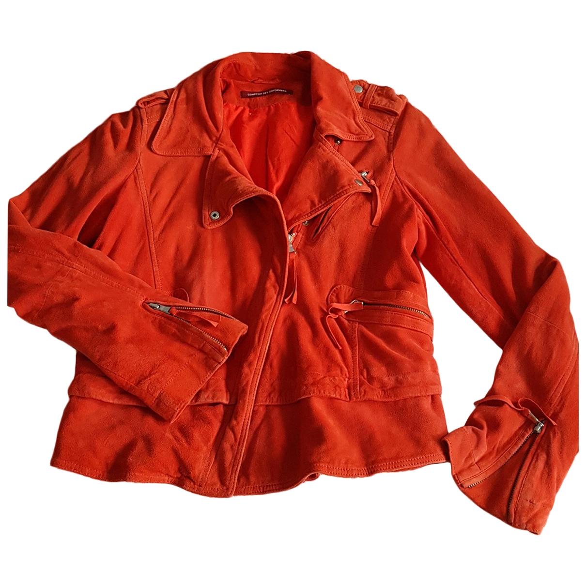 Comptoir Des Cotonniers \N Lederjacke in  Rot Leder