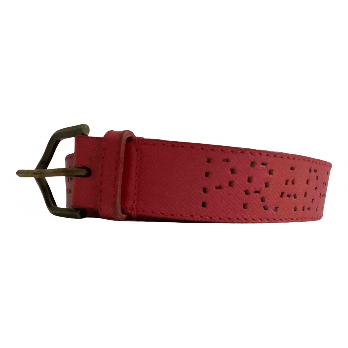 Prada \N Red Leather belt for Women 75 cm