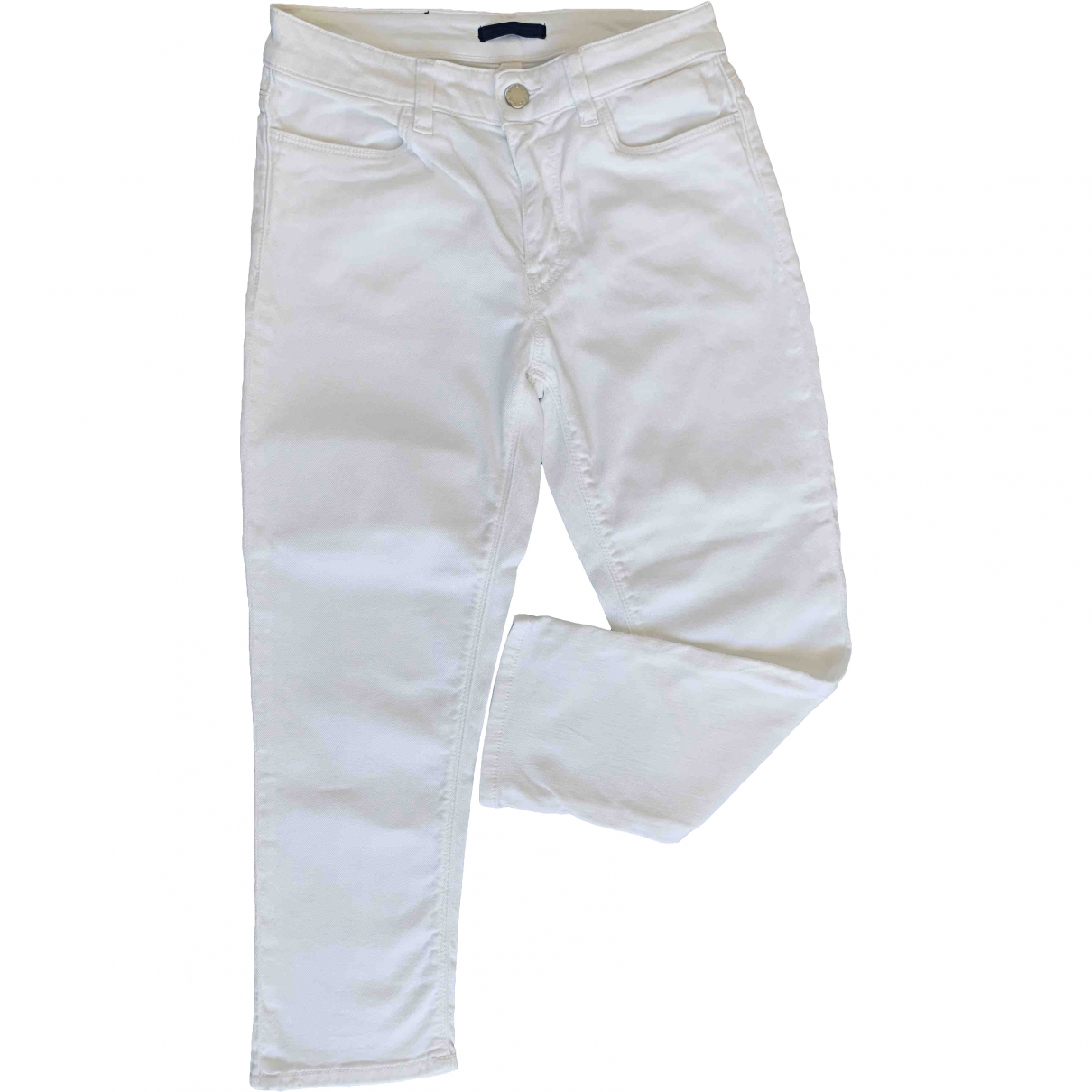 Prada \N White Cotton Trousers for Women 34 FR