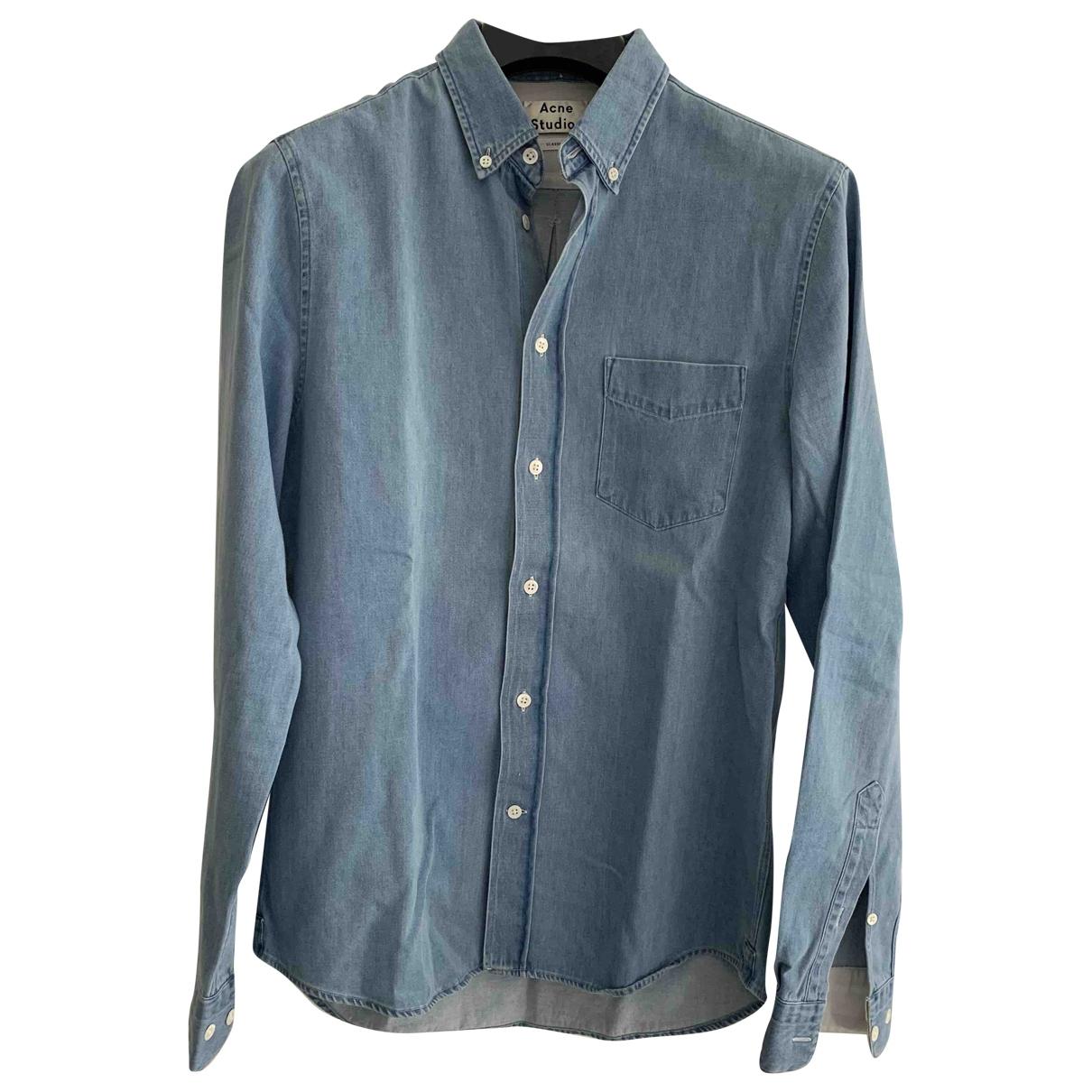 Acne Studios \N Hemden in  Blau Baumwolle