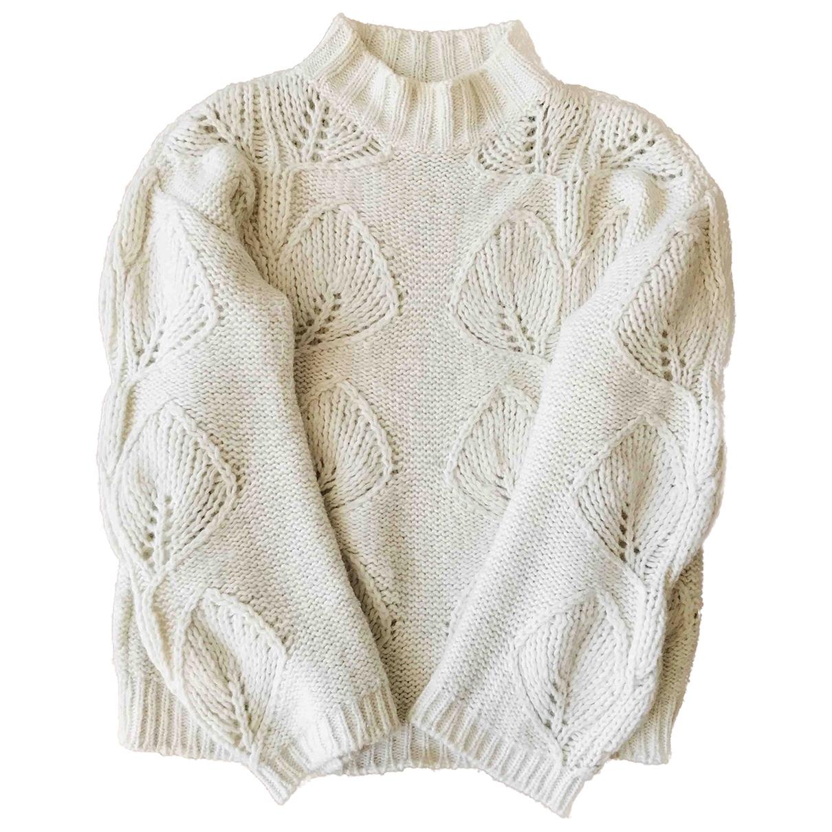 Massimo Dutti - Pull   pour femme en coton - ecru