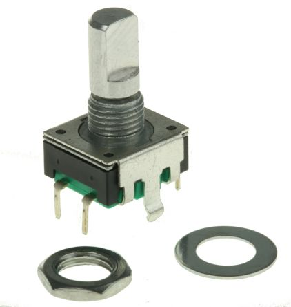Bourns 12 Pulse Incremental Mechanical Rotary Encoder with a 6 mm Flat Shaft, Through Hole
