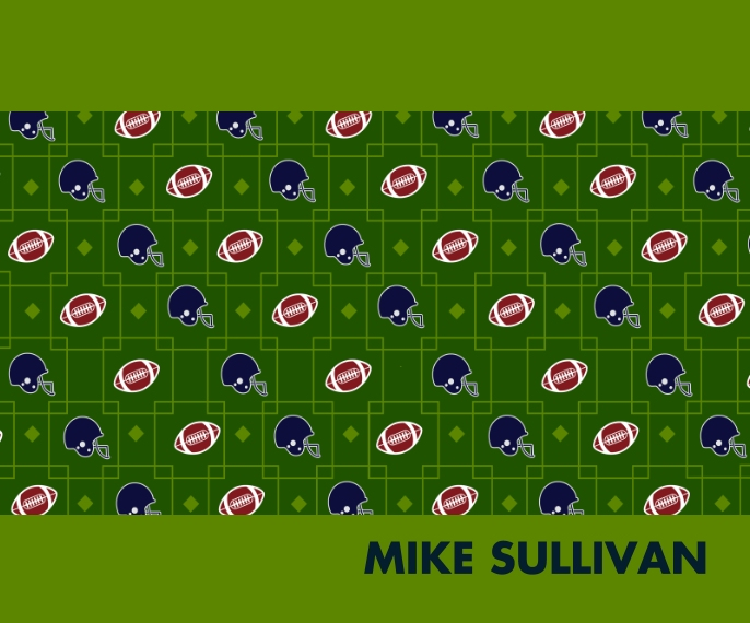 Everyday Plush Fleece Photo Blanket, 50x60, Gift -Pattern Football Squares