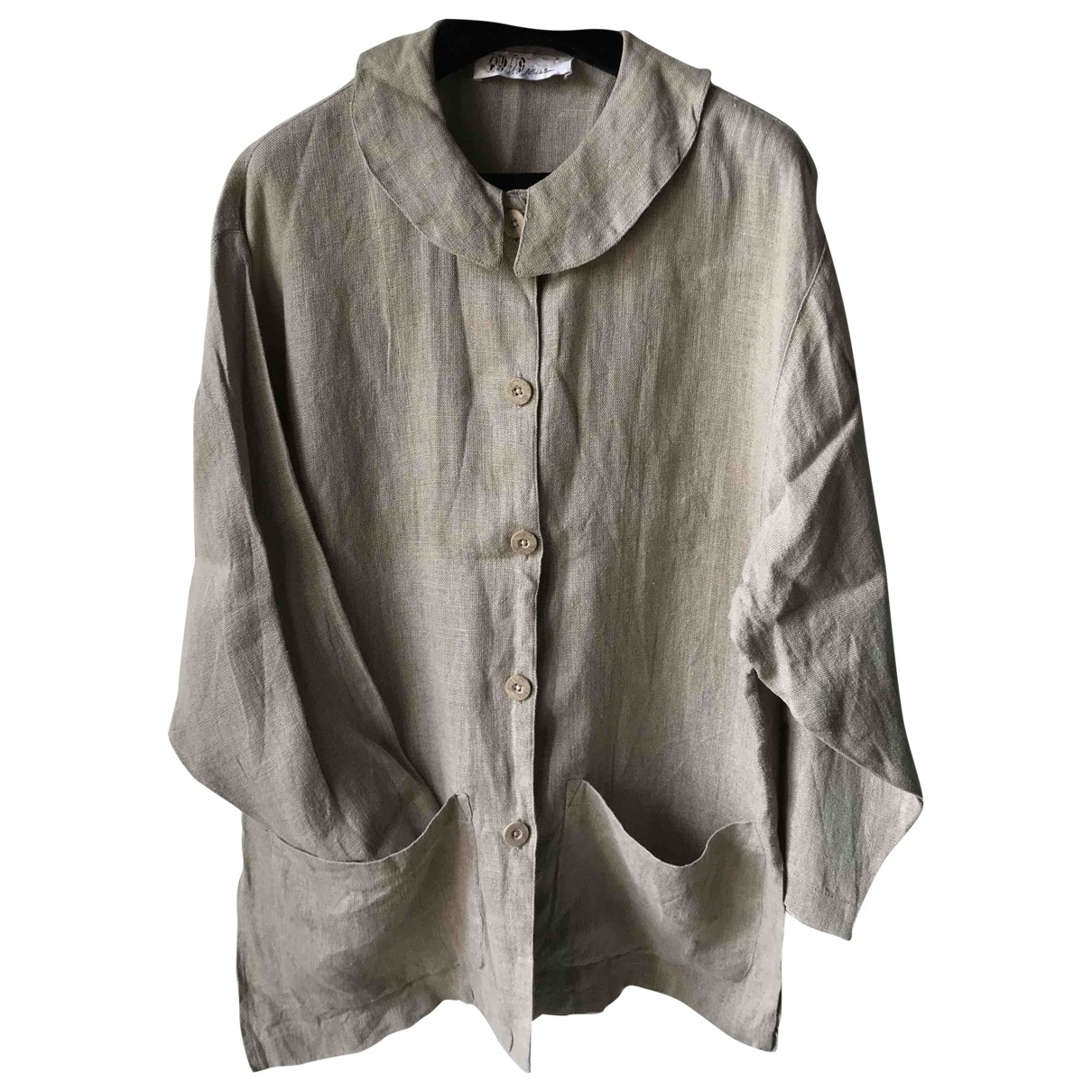 Non Signé / Unsigned Hippie Chic Linen jacket for Women S International