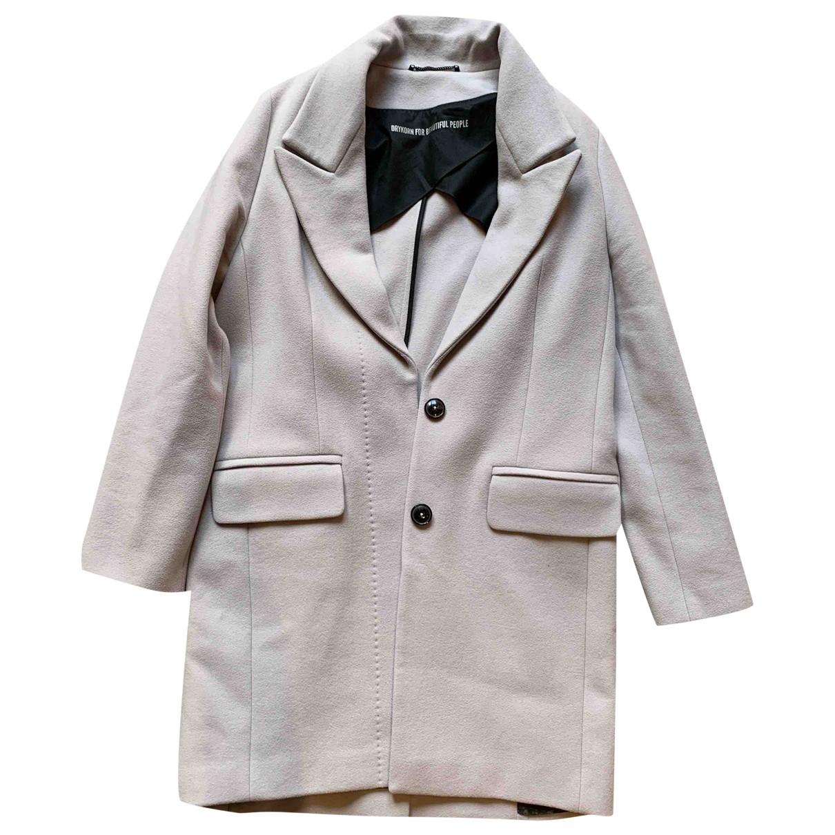 Drykorn - Manteau   pour femme en laine - gris
