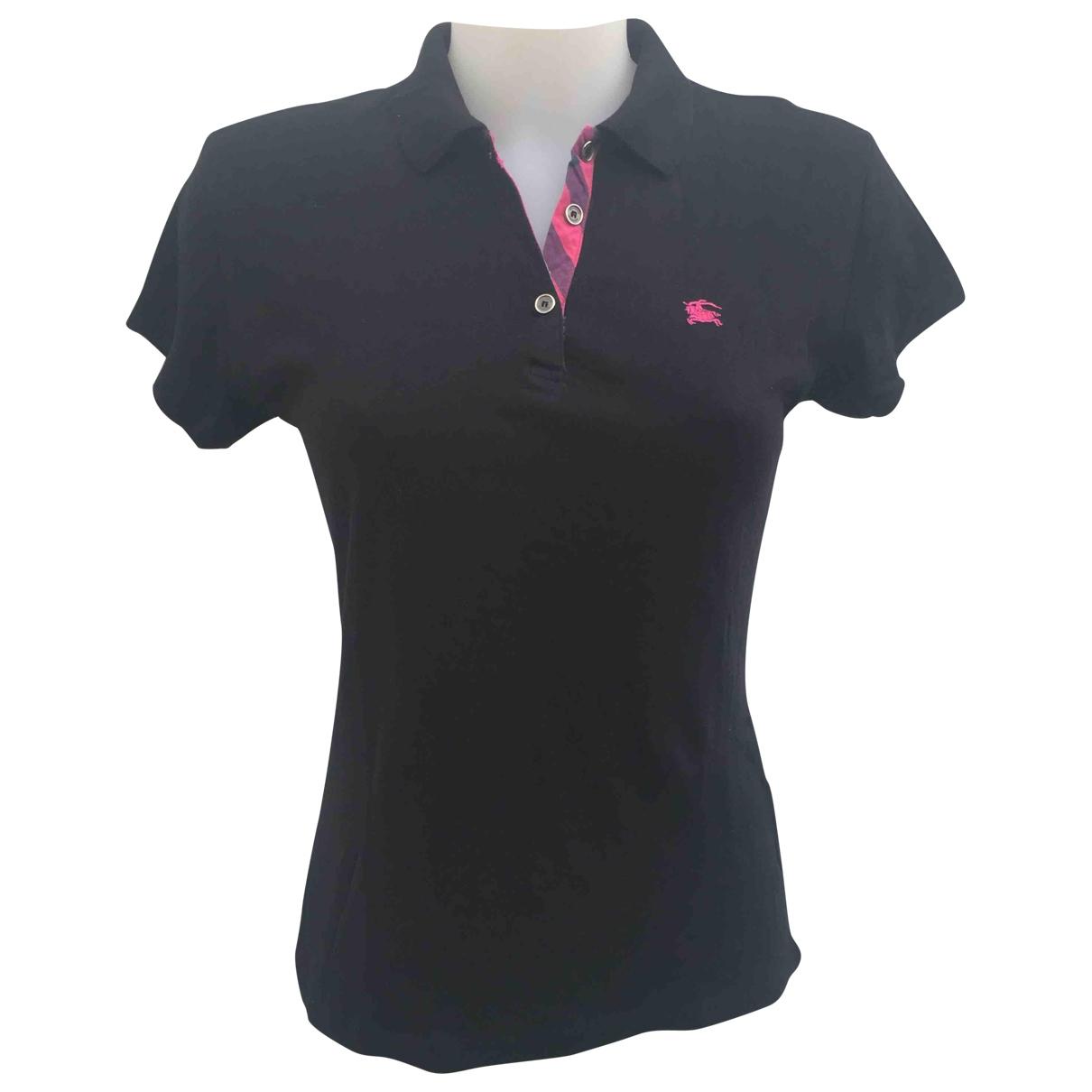 Burberry \N Black Cotton  top for Women XL International