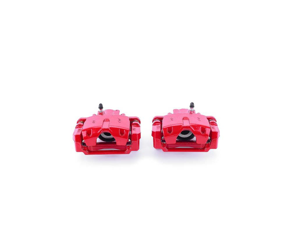 Power Stop S4904 Red Calipers w/Brackets - Pair Rear Cadillac SRX 2004-2009