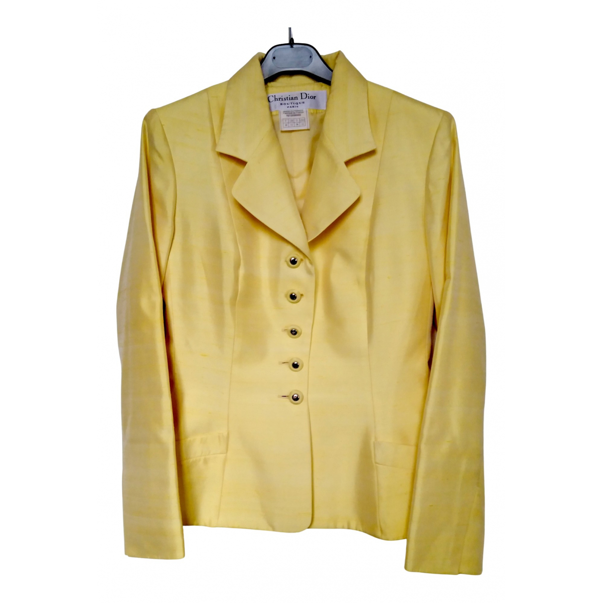 Dior \N Jacke in  Gelb Baumwolle