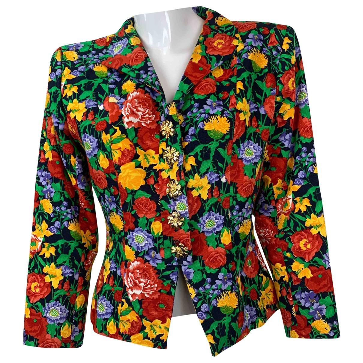 Yves Saint Laurent \N Red Cotton jacket for Women 40 FR