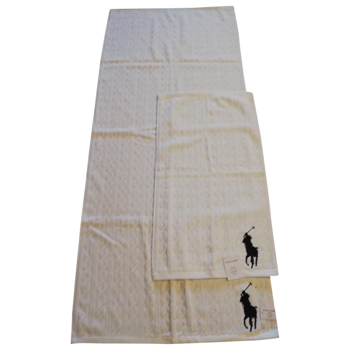 Ralph Lauren - Linge de maison   pour lifestyle en coton - blanc