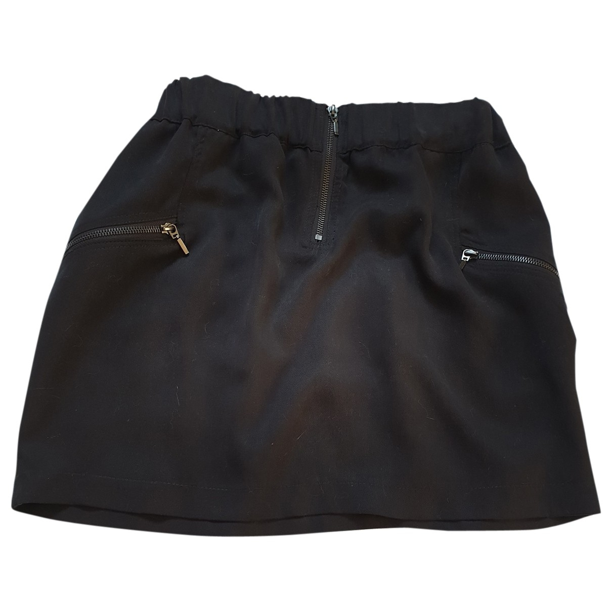Sandro \N Black Cotton skirt for Women 38 FR