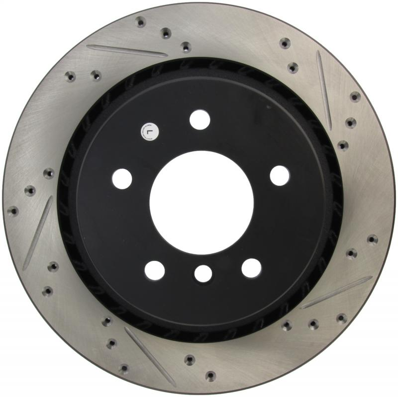 StopTech 127.34036L Sport Drilled/Slotted Brake Rotor; Rear Left BMW Rear Left
