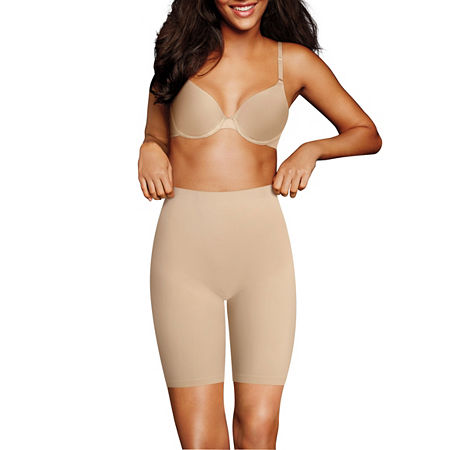 Maidenform Cover Your Bases Smoothing Firm Control Thigh Slimmers - 0035j, Medium , Beige