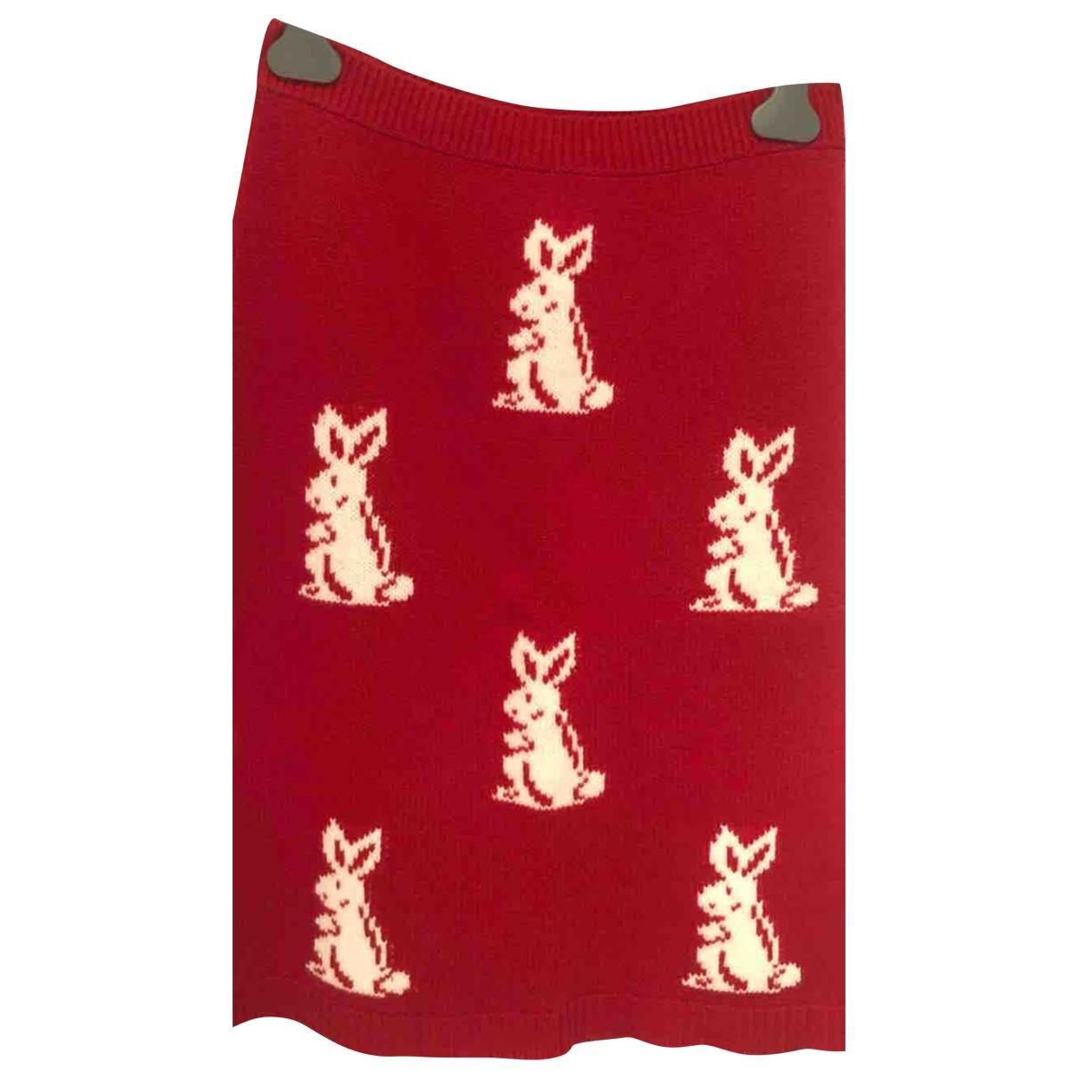 Prada - Jupe   pour femme en laine - rouge