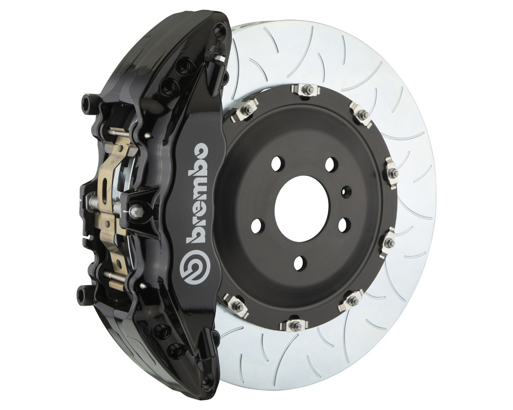 Brembo GT 380x34 2-Piece 6 Piston Black Slotted Type-3 Front Big Brake Kit