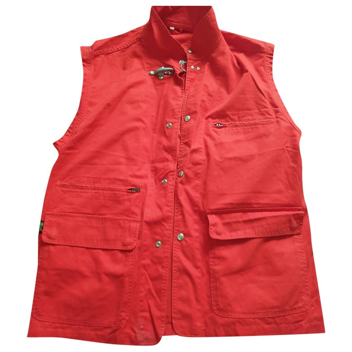 Fay \N Pullover.Westen.Sweatshirts  in  Rot Baumwolle
