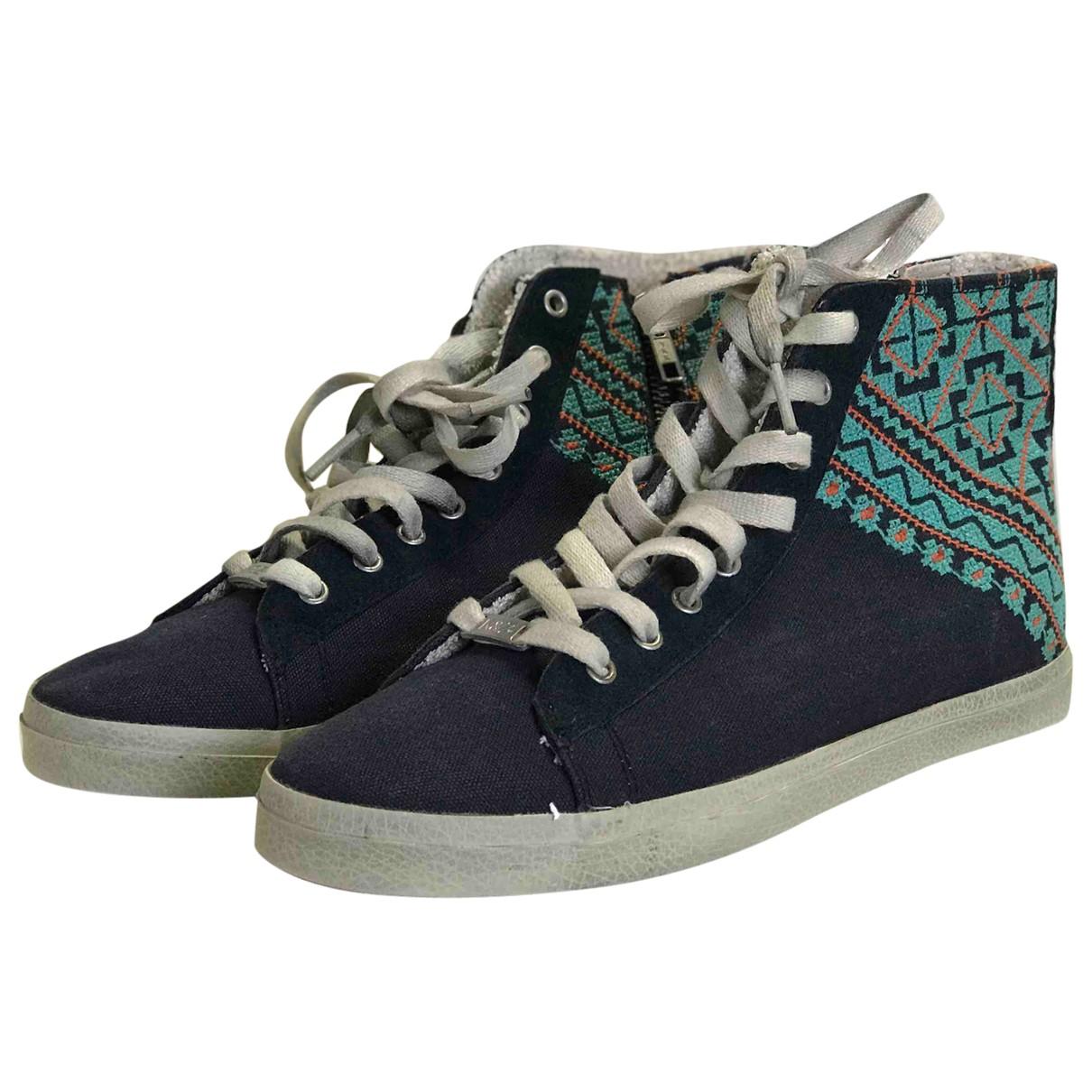 Kim & Zozi \N Sneakers in  Blau Leinen