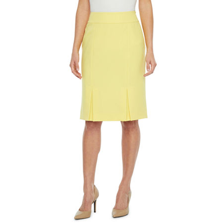 Black Label by Evan-Picone Suit Skirt, 16 , Yellow
