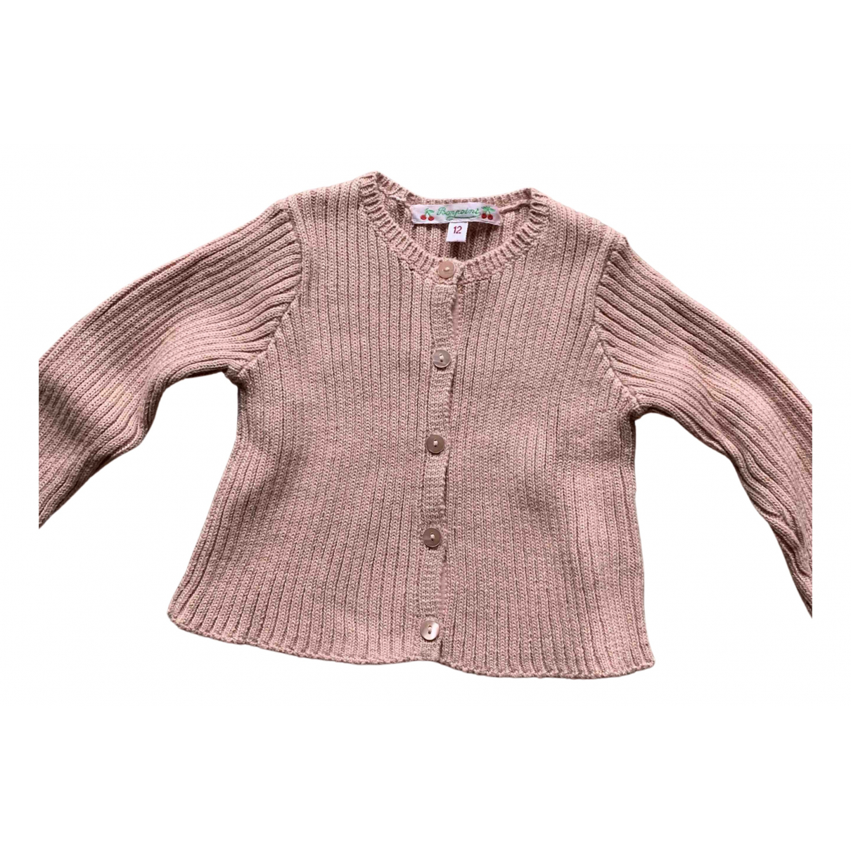 Bonpoint N Pink Cotton Knitwear for Kids 12 months - up to 74cm FR