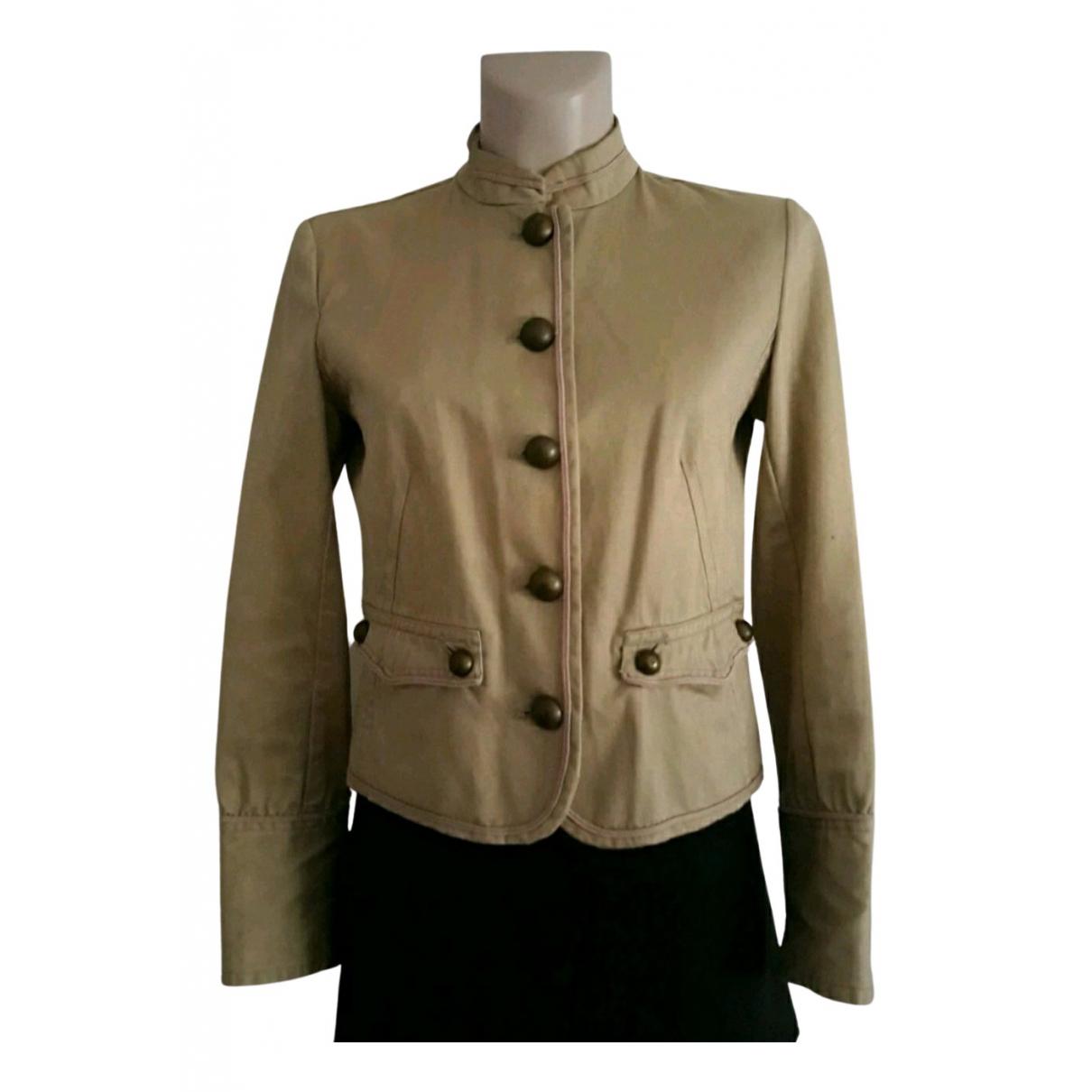 Massimo Dutti - Veste   pour femme en coton - beige