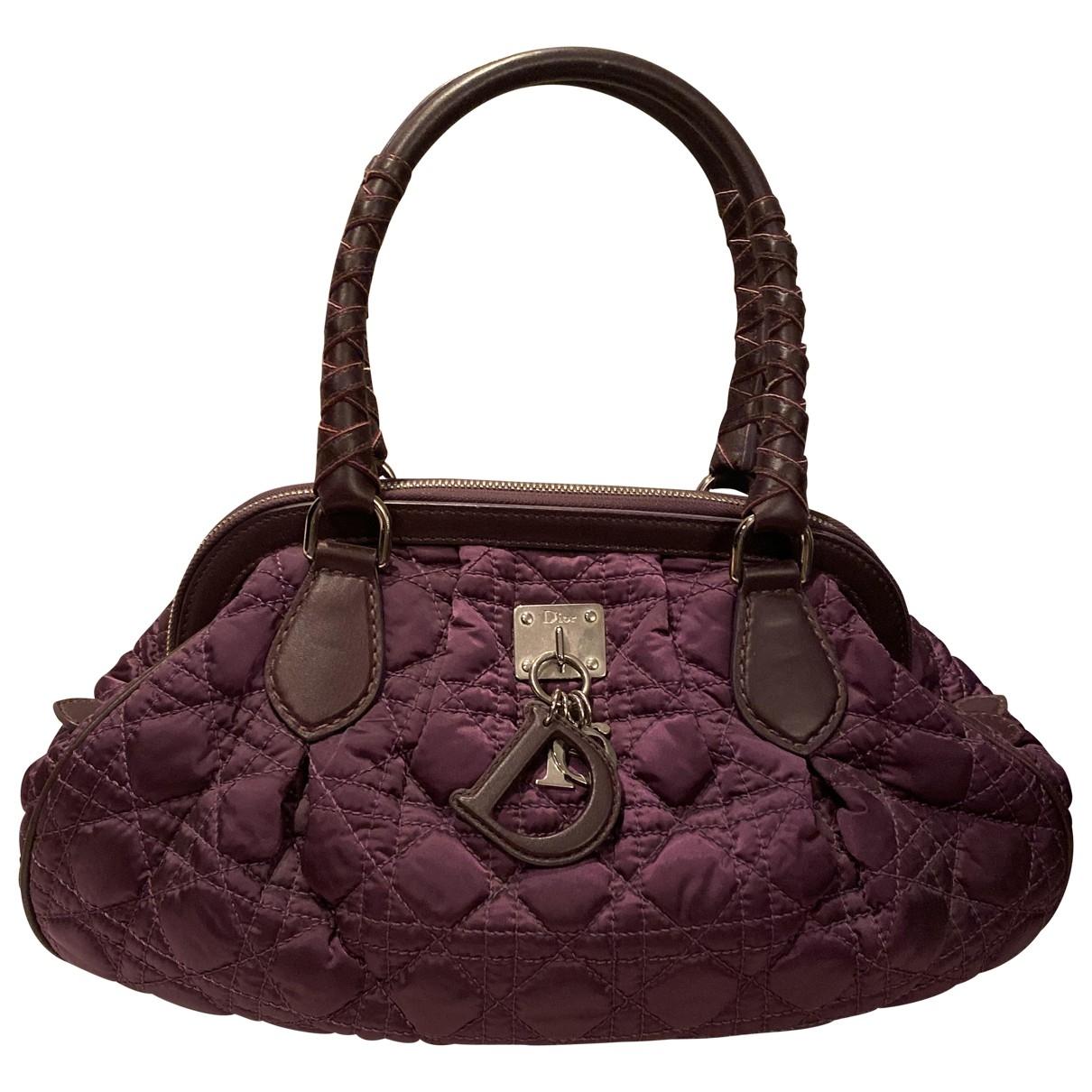 Dior - Sac a main Dior Soft Shopping pour femme en soie - violet