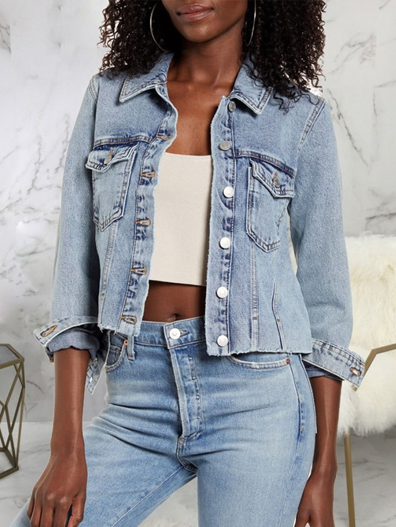 Ericdress Single-Breasted Long Sleeve Thin Short Fall Jacket