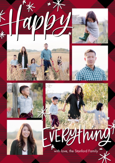 Christmas Photo Cards 5x7 Cards, Standard Cardstock 85lb, Card & Stationery -Holiday Happy Everything Memories by Tumbalina