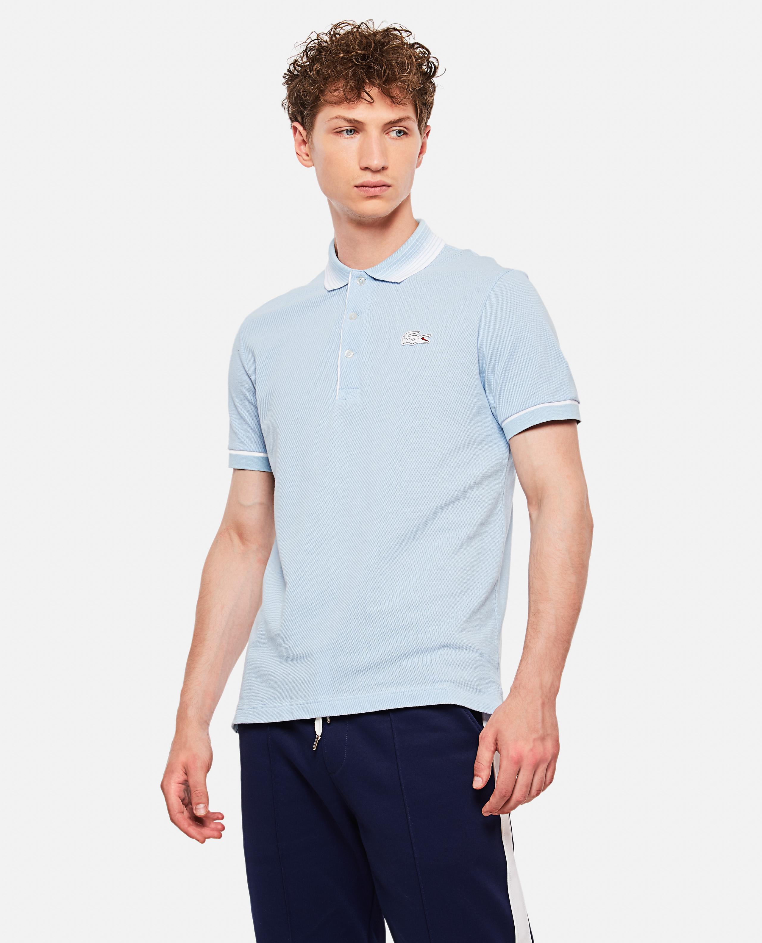 Lacoste X Roland Garros Open Cotton Polo Shirt In Petit Pique