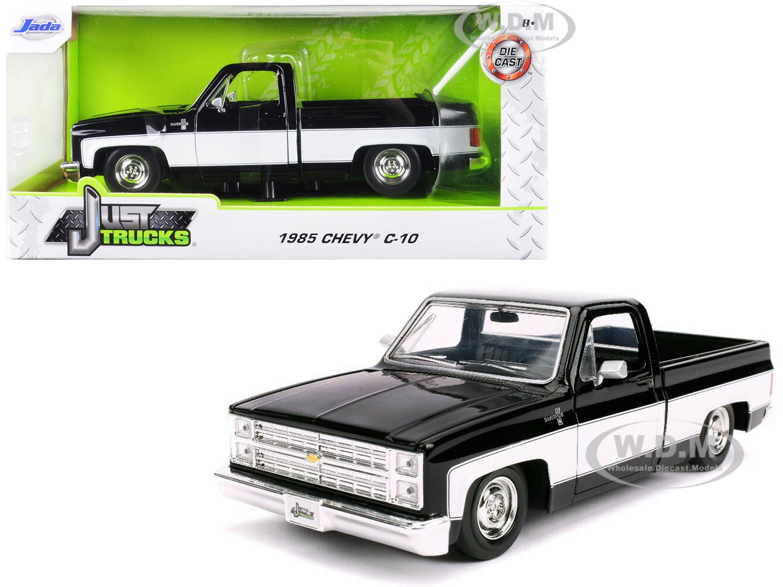 1985 Chevrolet Silverado C-10 Pickup Truck Stock Wheels Black and White