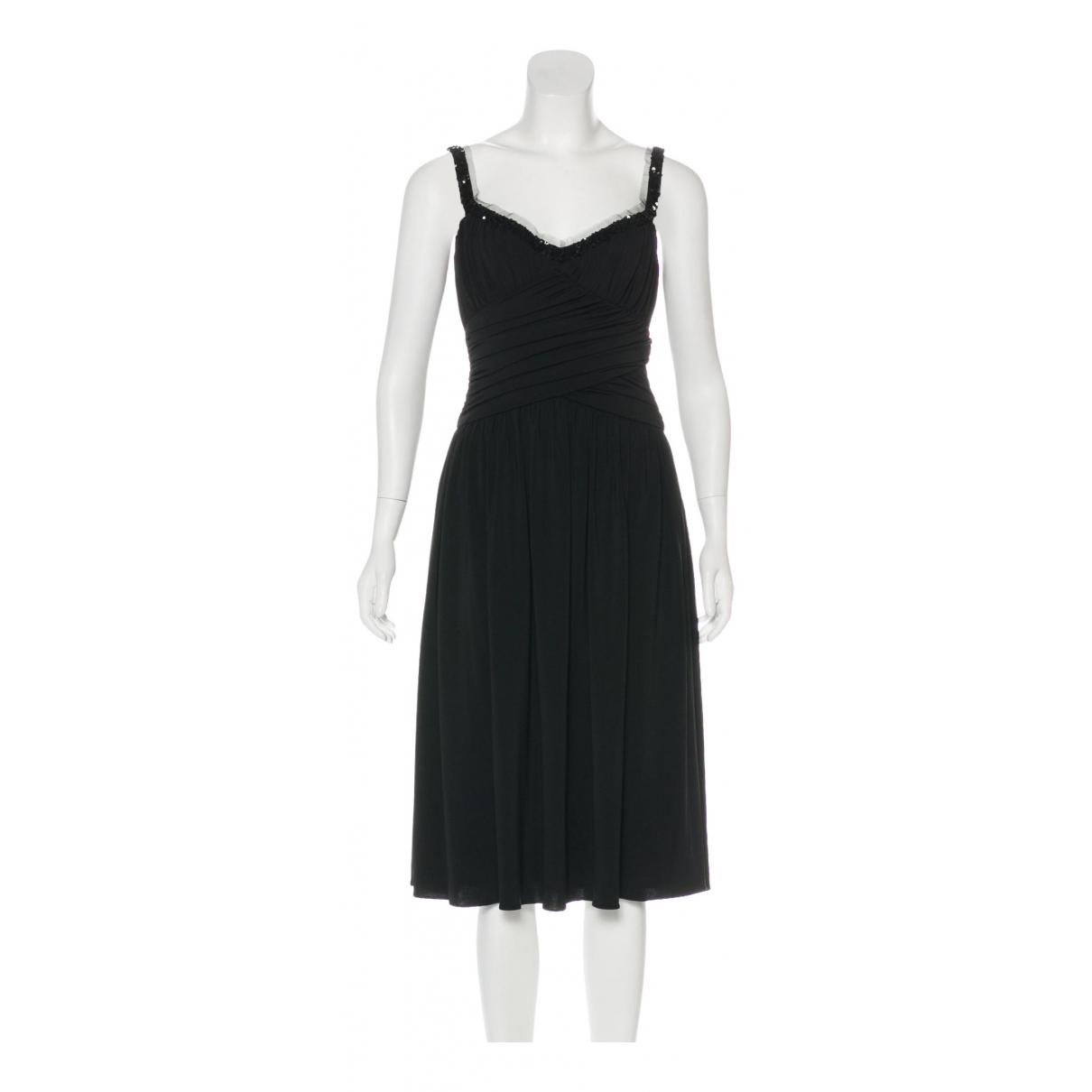 Vera Wang \N Kleid in  Schwarz Polyester