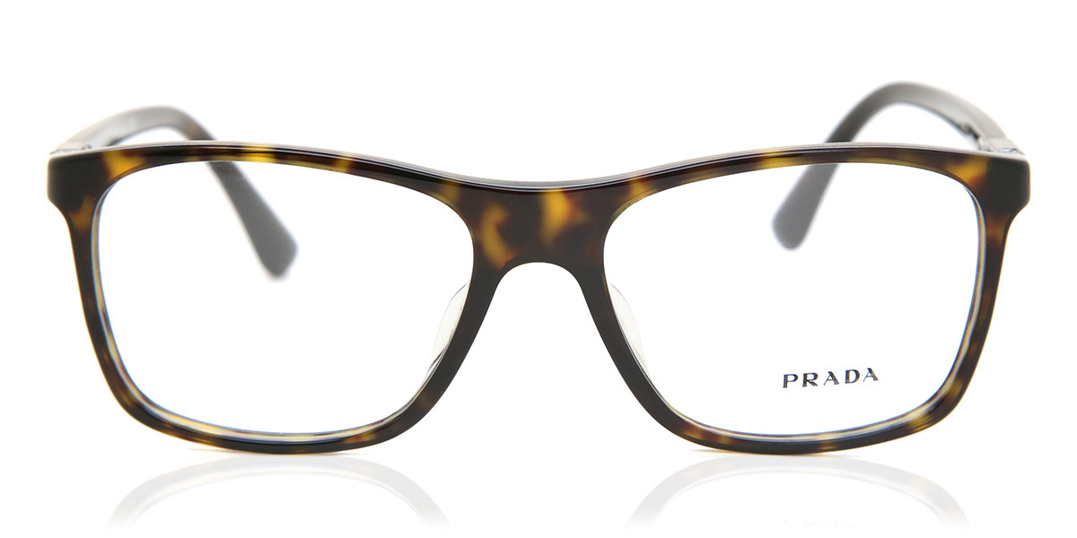 Prada PR05SVF Asian Fit 2AU1O1 Mens Glasses Tortoise Size 55 - Free Lenses - HSA/FSA Insurance - Blue Light Block Available