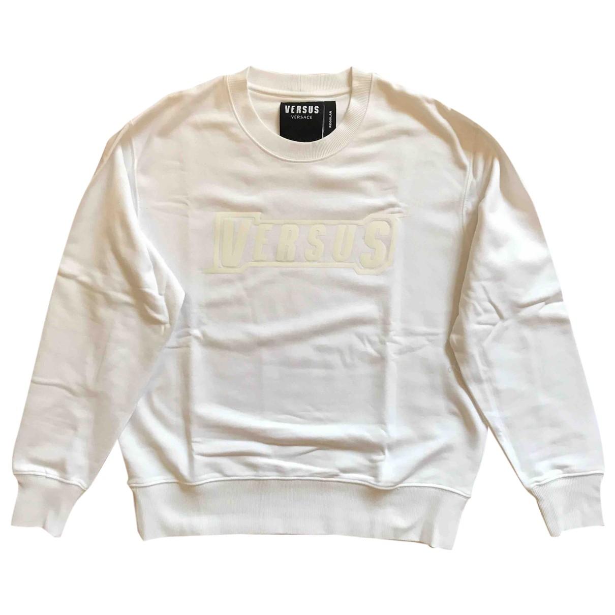 Versus \N Pullover.Westen.Sweatshirts  in  Weiss Baumwolle