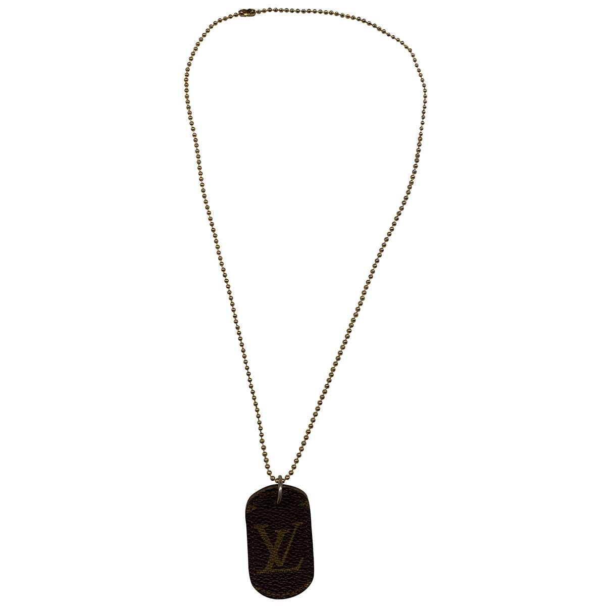 Collar Monogram de Cuero Louis Vuitton