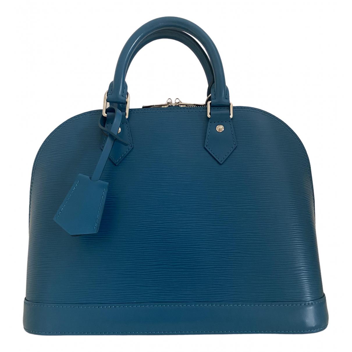 Louis Vuitton Alma Green Leather handbag for Women \N