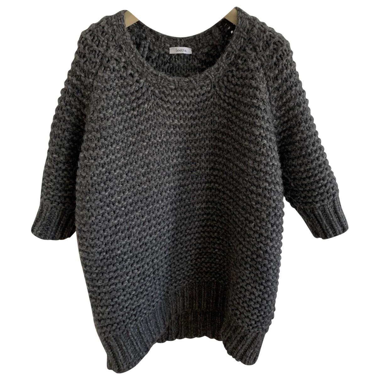 Leetha - Pull   pour femme en laine - gris