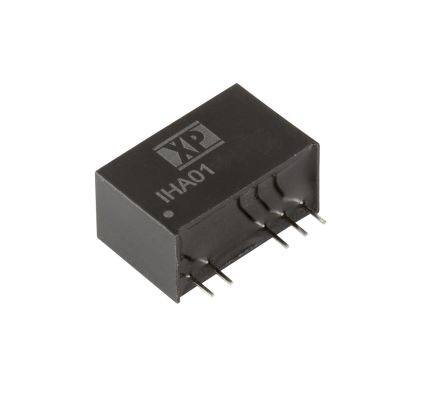 XP Power IHA01 1W Isolated DC-DC Converter Through Hole, Voltage in 21.6 → 26.4 V dc, Voltage out 12V dc