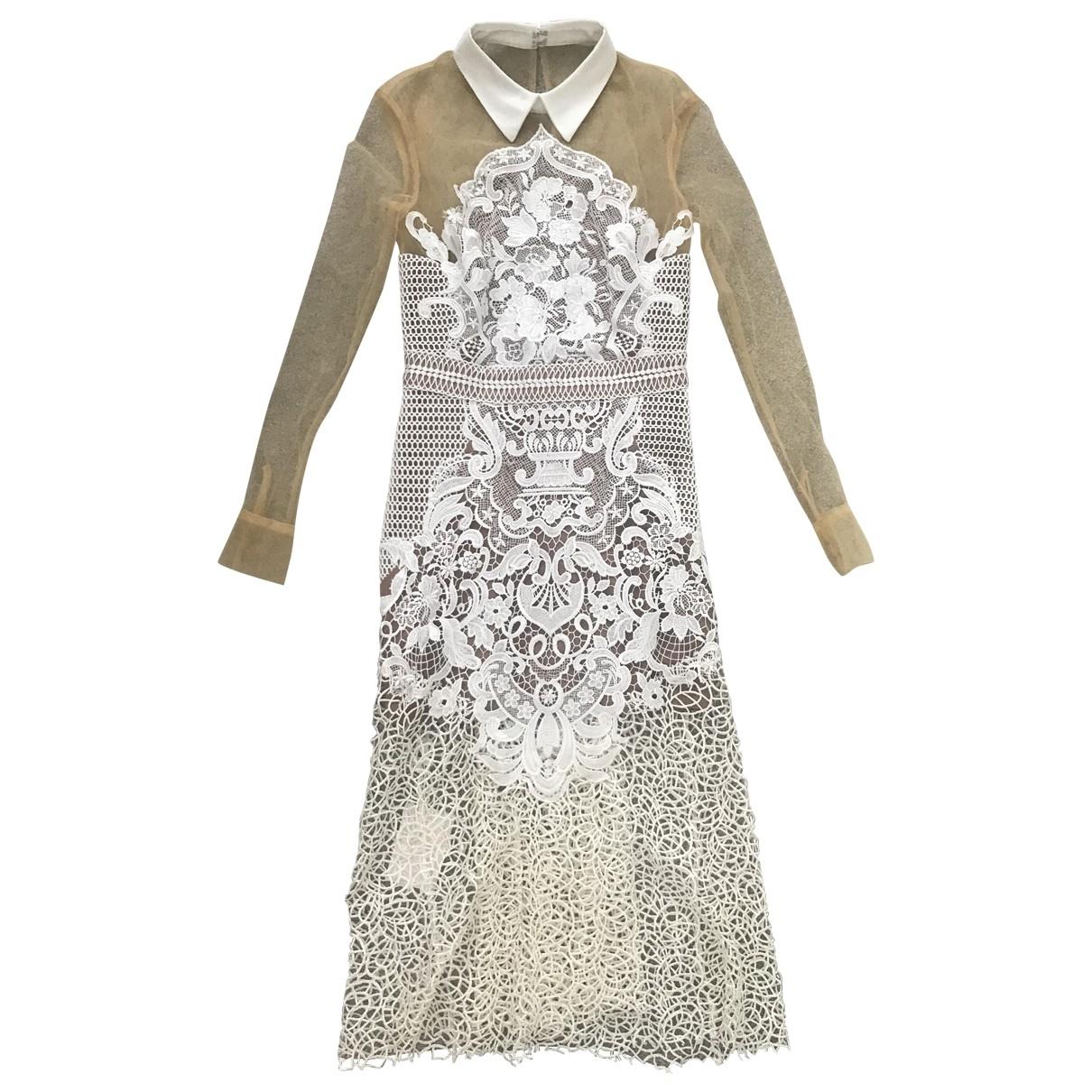 Self Portrait \N White Lace dress for Women 8 UK