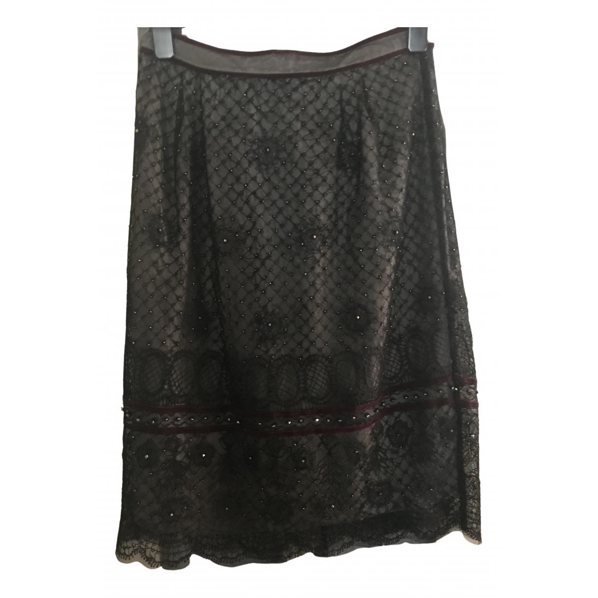 Antik Batik \N Rocke in  Schwarz Viskose
