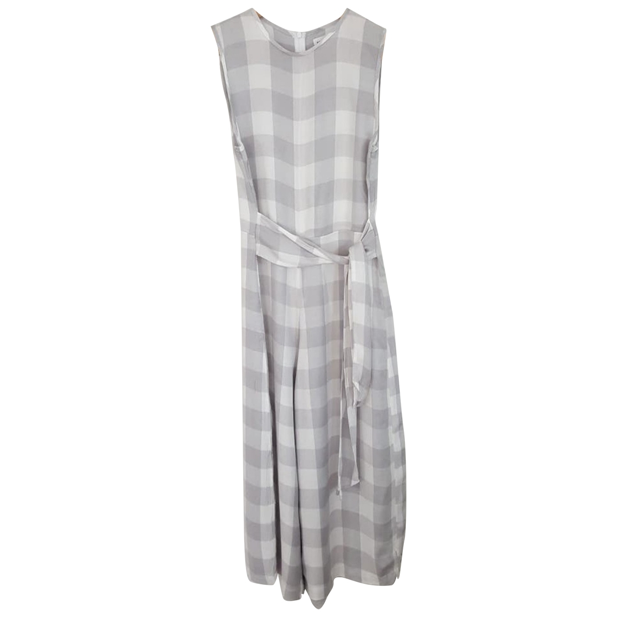 Non Signé / Unsigned \N Grey Cotton jumpsuit for Women 36 FR