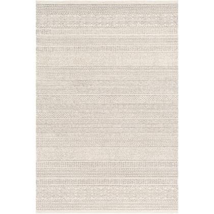Maroc MAR-2303 6' x 9' Rectangle Global Rug in Medium Gray  Cream  Khaki