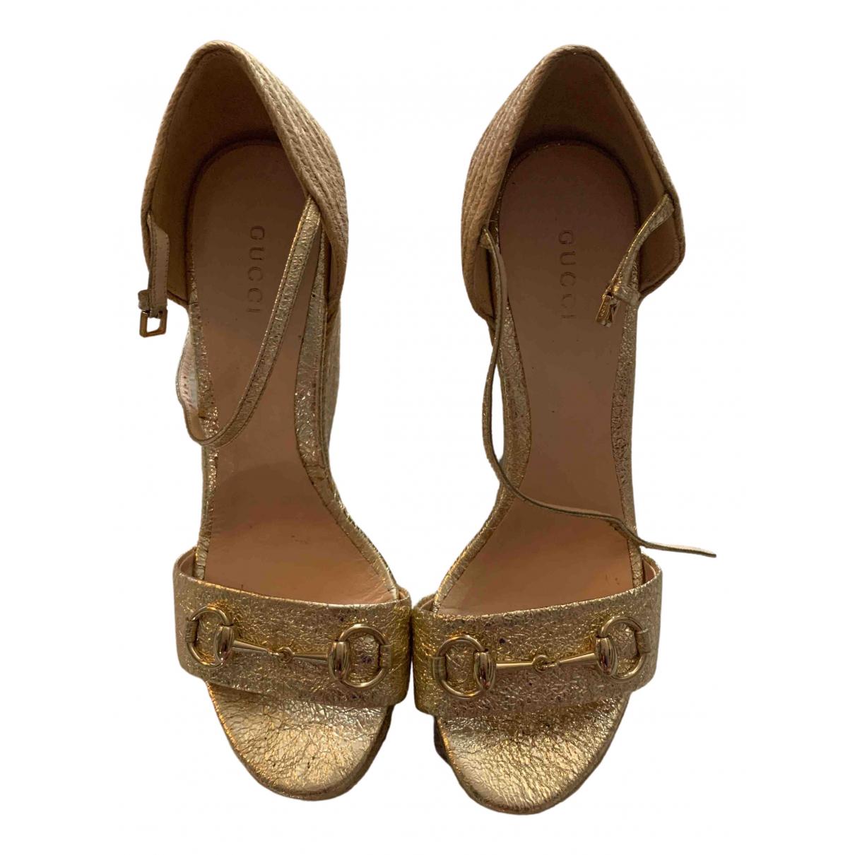 Gucci \N Metallic Cloth Sandals for Women 38.5 IT