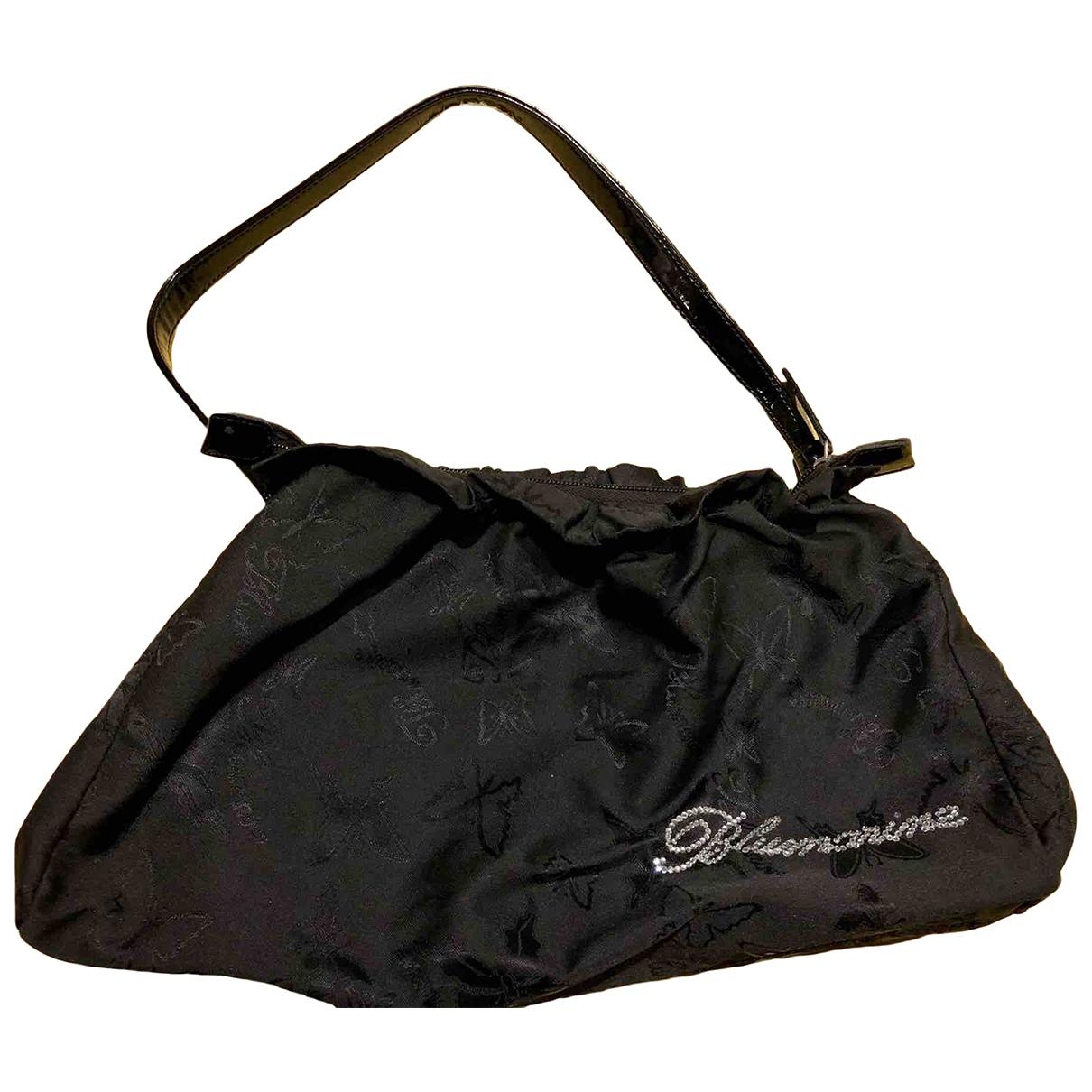 Blumarine \N Handtasche in  Schwarz Leinen