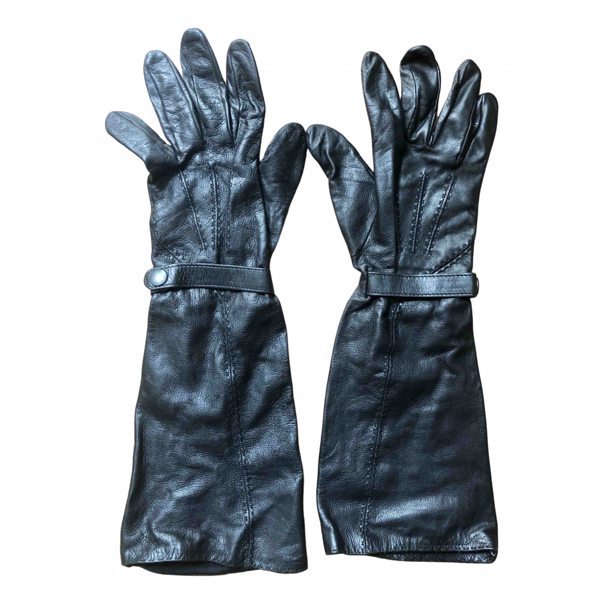 Non Signe / Unsigned \N Handschuhe in  Schwarz Leder